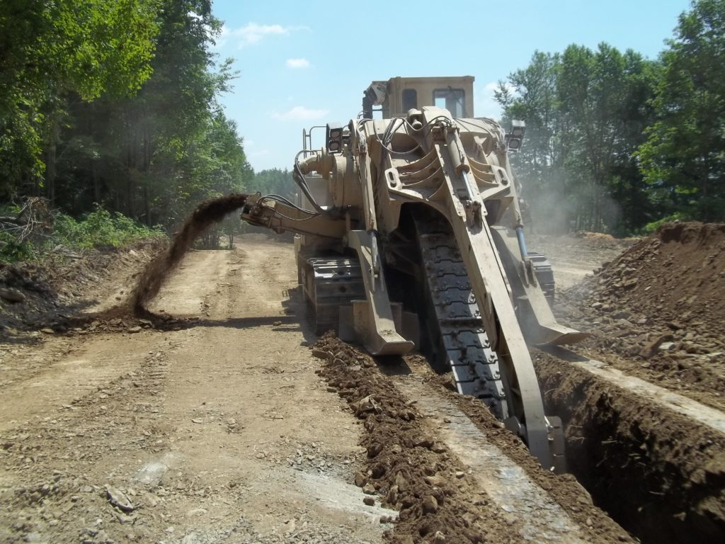Pipeline trenching linde