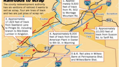 "<span class=""entry-title-primary"">Scott Linde Advocates New Uses for Unused Railroad Lines</span> <span class=""entry-subtitle"">Citizens Voice Article on County Redevelopment Authority Selling Unused Railroad Lines</span>"