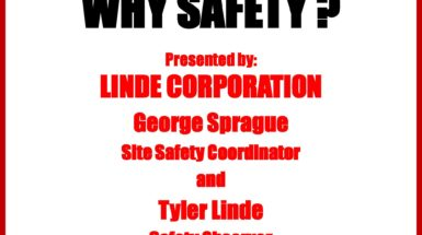 Linde Presents Safety Meeting at Lackawanna College School of Petroleum and Natural Gas